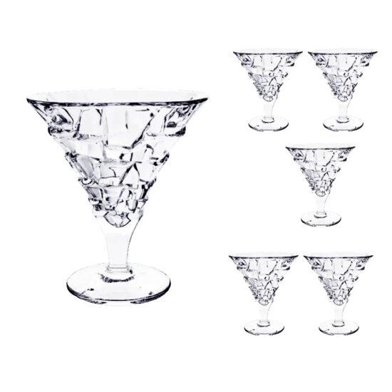 Set 6 Cupe Cristal Inghetata Crack 330ml 3575